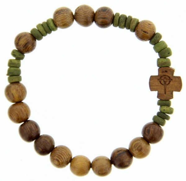 Wood Rosary Bracelet 8mm Light Brown