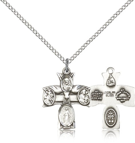 Women's Four-Way Medal - Sterling Silver