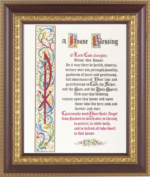 A House Blessing Prayer Framed Print - #126 Frame