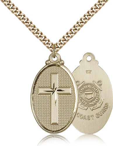 Cross Coast Guard Pendant - 14KT Gold Filled