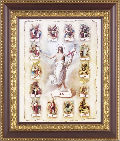 Stations of the Cross Illustrated Framed Print - #126 Frame