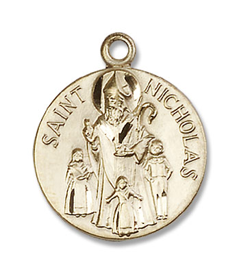 Women's St. Nicholas Medal - 14K Yellow Gold