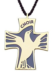 Choir Cross Pendant - Blue | Gold