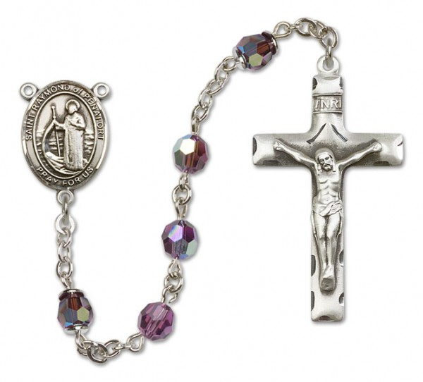 Raymond of Penafort Rosary Heirloom Squared Crucifix - Amethyst