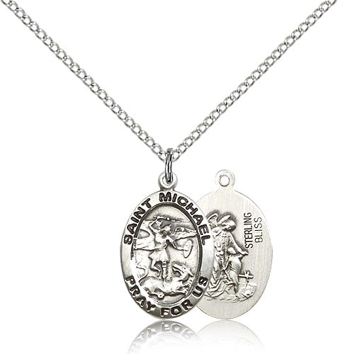 Women's St. Michael The Archangel Medal - Sterling Silver