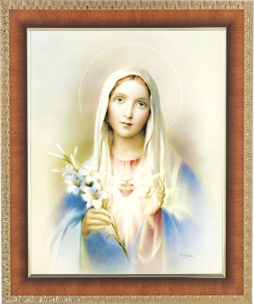 Immaculate Heart of Mary Framed Print - #122 Frame