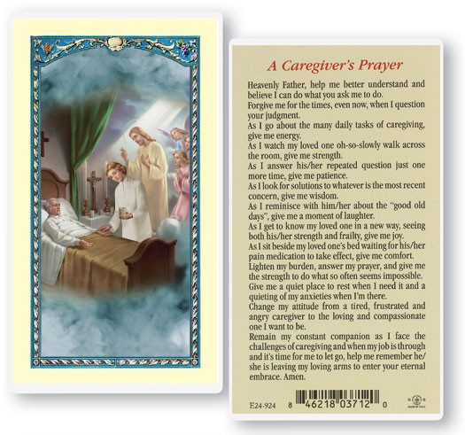 Caregiver Laminated Prayer Cards 25 Pack - Full Color