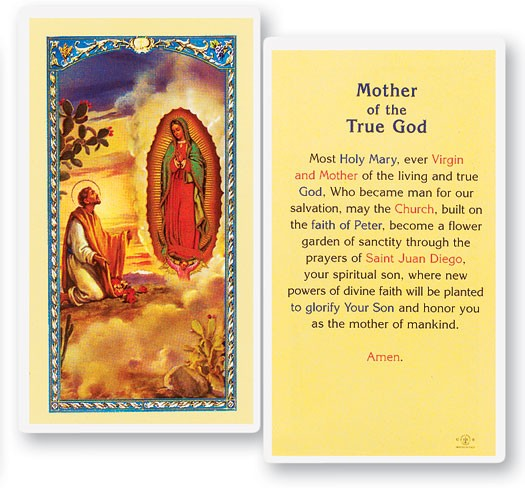 Mother of True God Laminated Prayer Cards 25 Pack - Full Color