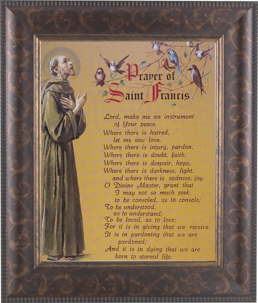 Prayer of St. Francis Framed Print - #124 Frame