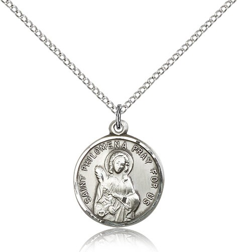 Women's St. Philomena Medal - Sterling Silver