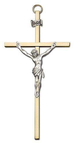 "Classic Crucifix 6"" - Two-Tone Gold"