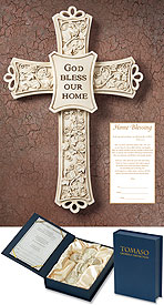 Tomaso Gift Cross: Home Blessing - Cream