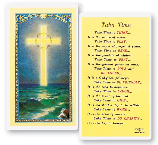 Take Time Laminated Prayer Cards 25 Pack - Full Color