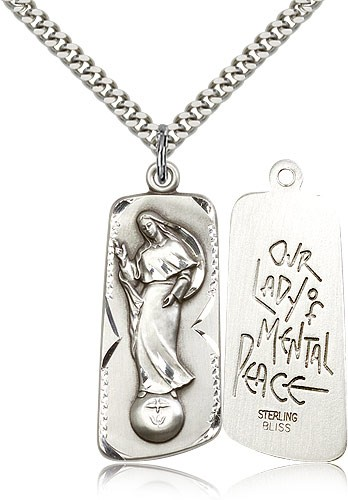 Our Lady of Mental Peace Medal - Sterling Silver