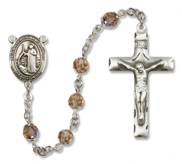 Raymond of Penafort Rosary Heirloom Squared Crucifix - Topaz