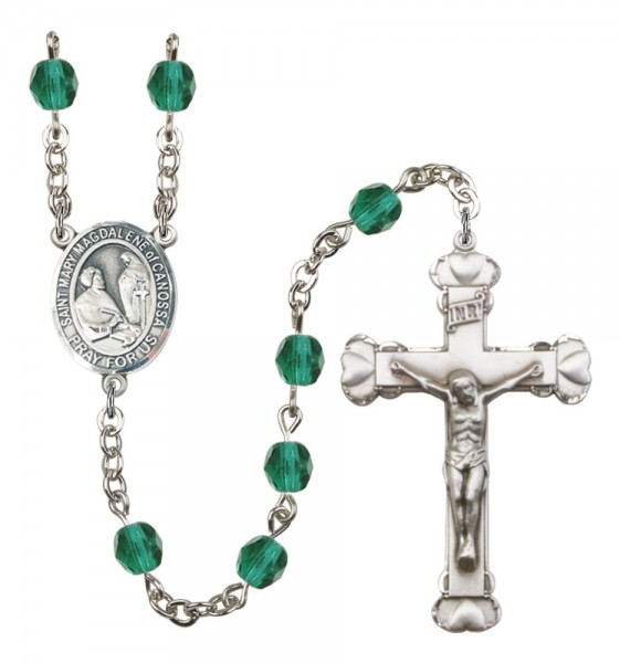 Women's St. Mary Magdalene of Canossa Birthstone Rosary - Zircon