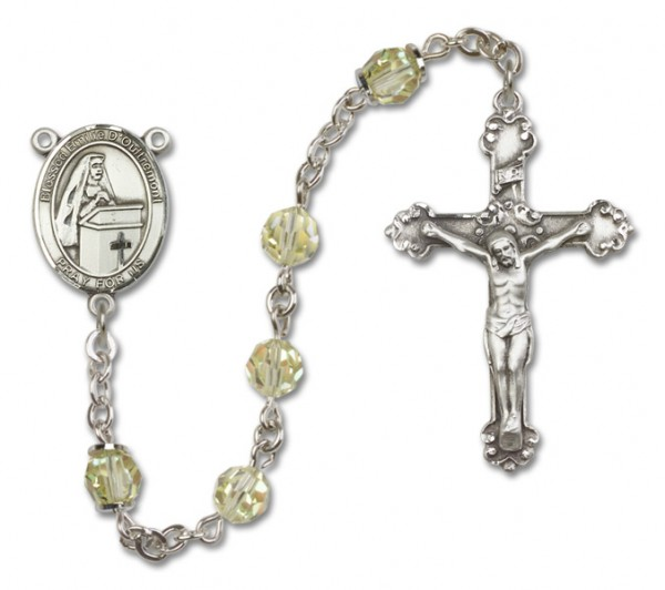 Emilee Doultremont Sterling Silver Heirloom Rosary Fancy Crucifix - Jonquil