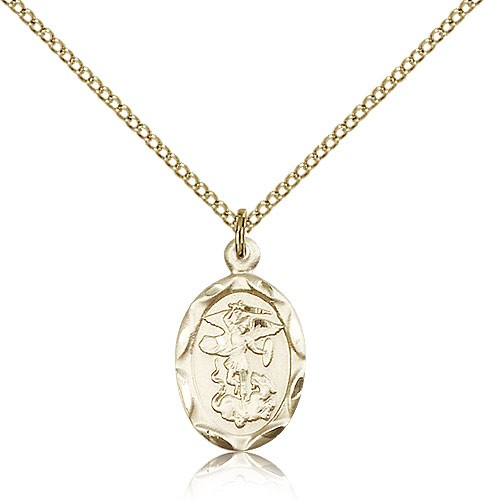 Oval St. Michael Medal - 14KT Gold Filled