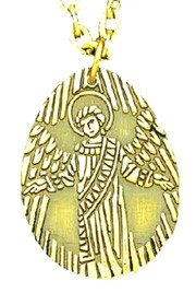 Guardian Angel Pendant - Gold