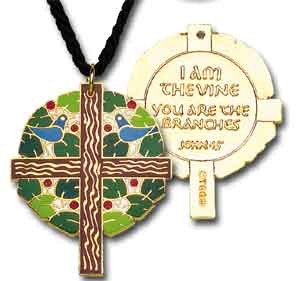 Tree of Life Cross Pendant - Multi-Color