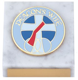 Deacon's Wife Paperweight - White