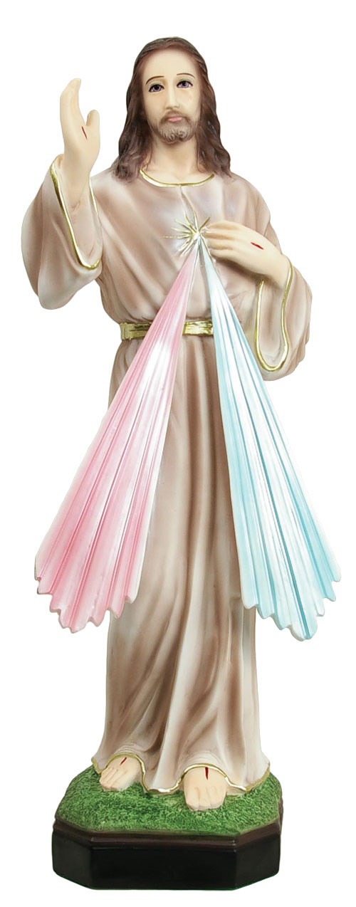 Divine Mercy Statue 21 Inch - Full Color