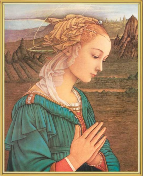 Lippi Madonna Gold Framed Print - Full Color
