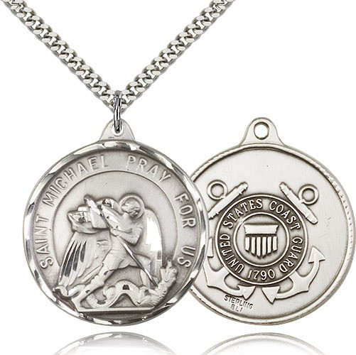 St. Michael Coast Guard Medal - Sterling Silver