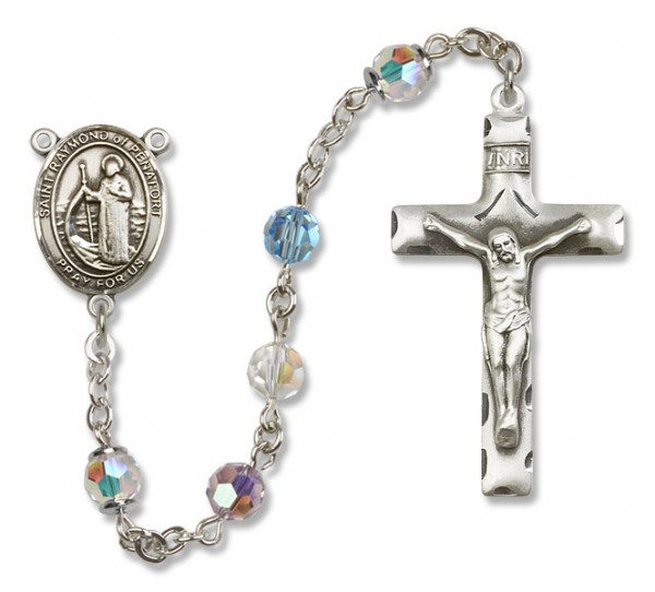 Raymond of Penafort Rosary Heirloom Squared Crucifix - Multi-Color