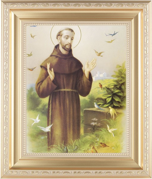 St. Francis of Assisi Framed Print - #138 Frame