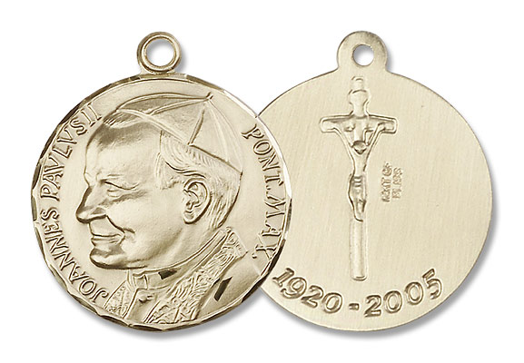 St. John Paul II Medal - 14K Solid Gold