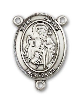 St. James the Greater Rosary Centerpiece Sterling Silver or Pewter - Sterling Silver