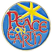 Peace on Earth Lapel Pin - Blue