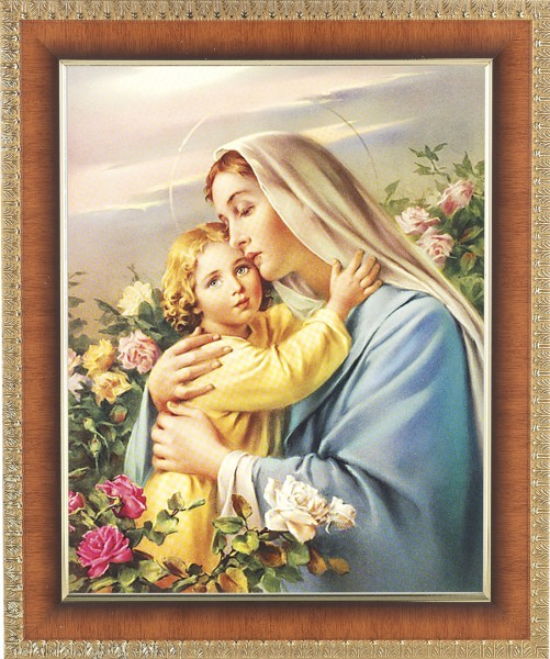 Madonna and Child in the Garden Framed Print - #122 Frame