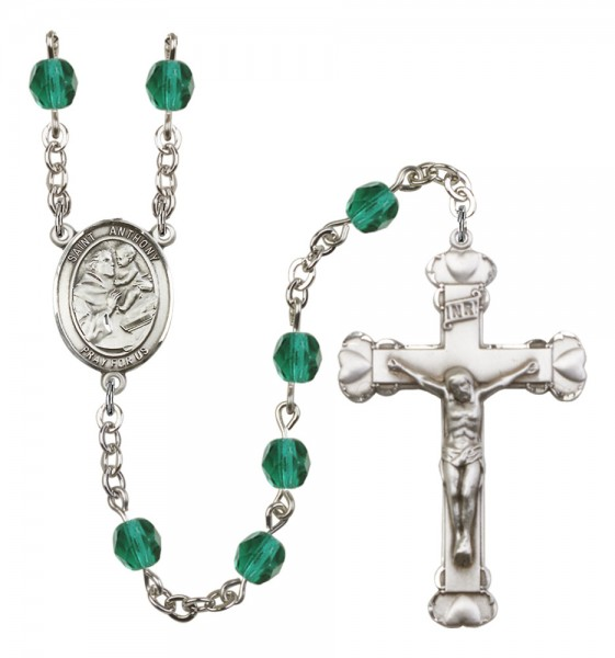 Women's St. Anthony of Padua Birthstone Rosary - Zircon