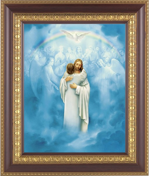 Jesus' Embrace at Heaven's Gate Framed Print - #126 Frame