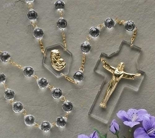 Crystal Wall Rosary 54 inch - Multi-Color