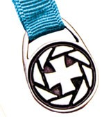 Cross Bookmark - 12 Ribbon Colors Available - Aqua