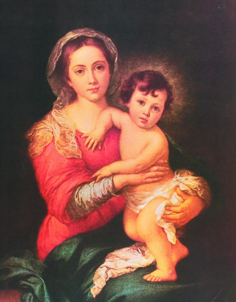 Madonna & Child Print - Sold in 3 per pack - Multi-Color