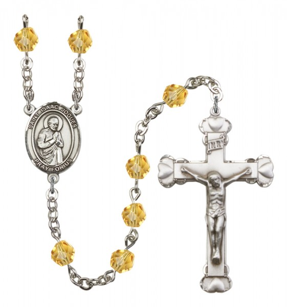 Women's St. Isaac Jogues Birthstone Rosary - Topaz