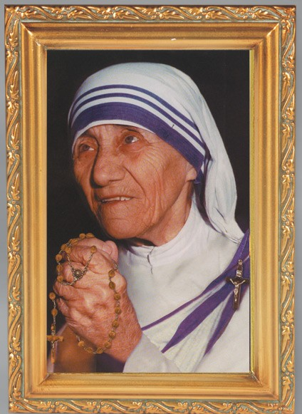 Mother Teresa Antique Gold Framed Print - Full Color