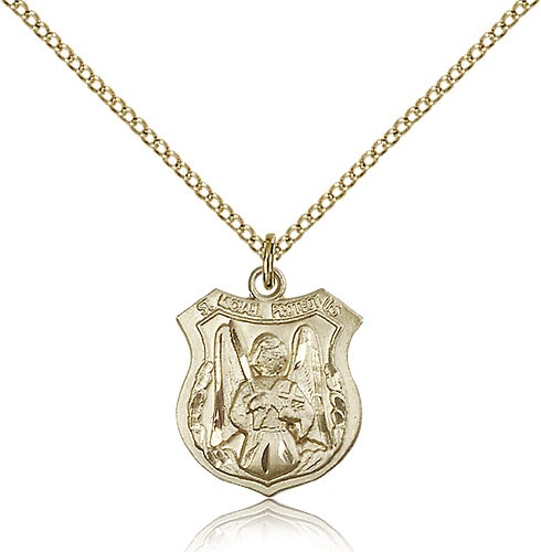 Woman's St. Michael The Archangel Medal - 14KT Gold Filled
