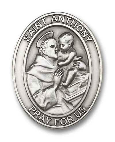 St. Anthony Visor Clip - Antique Silver