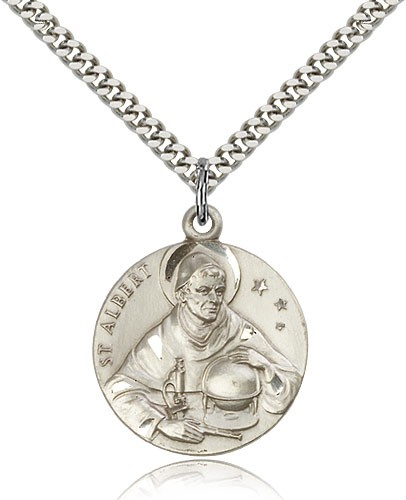 St. Albert The Great Medal - Sterling Silver
