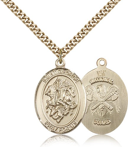 St. George National Guard Medal - 14KT Gold Filled