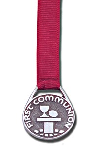 First Communion Bookmark - 12 Ribbon Colors Available - Rose