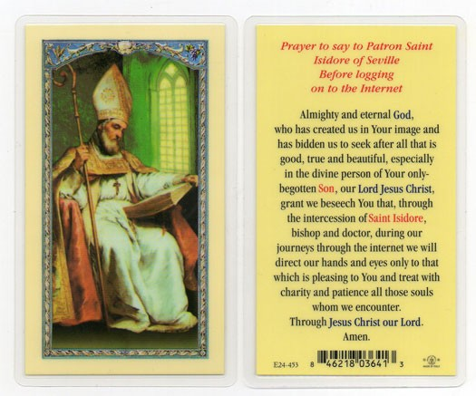 St. Isidore Laminated Prayer Cards 25 Pack - Full Color