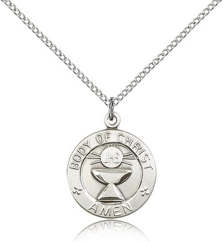 Youth Size The Body of Christ Medal - Sterling Silver