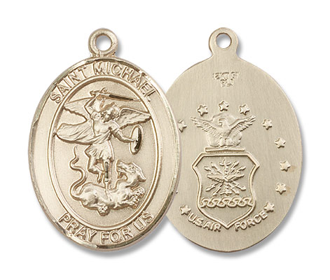 St. Michael Air Force Medal - 14K Solid Gold