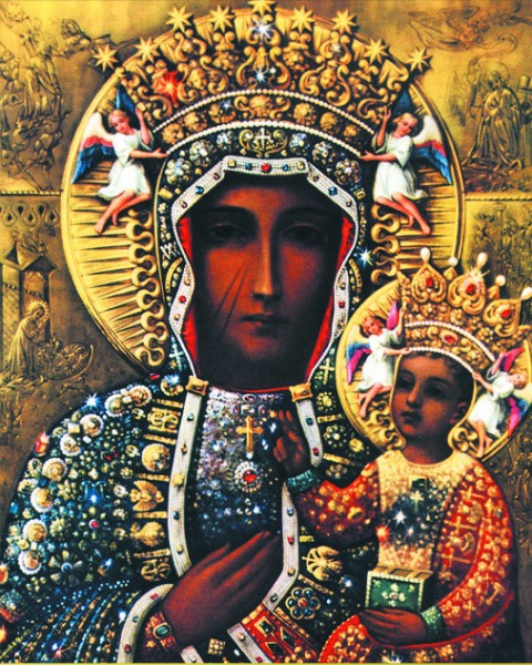 Our Lady of Czestochowa Print - Sold in 3 per pack - Multi-Color